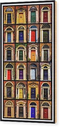 Georgian Doors Of Dublin 3 Wood Print