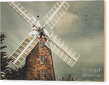 Wood Print featuring the photograph Georgian Stone Windmill  by Jorgo Photography - Wall Art Gallery