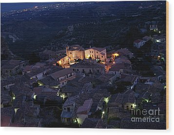 Italy, Calabria,gerace Wood Print