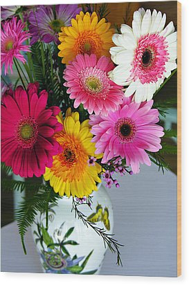 Gerbera Daisy Bouquet Wood Print by Marilyn Hunt