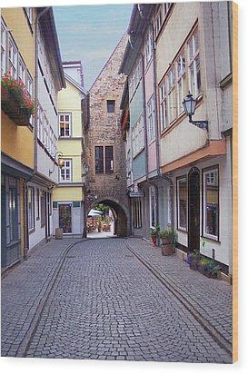 German Bridge Wood Print