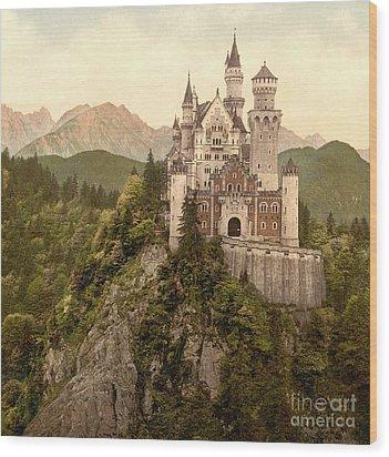 German Castle Neuschwanstein Wood Print by Padre Art