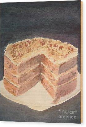German Chocolate Cake Wood Print