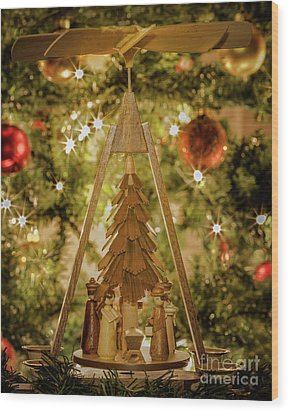 German Christmas Pyramid Wood Print