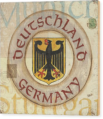 German Coat Of Arms Wood Print by Debbie DeWitt