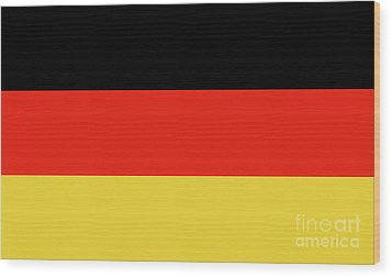 Wood Print featuring the digital art German Flag by Bruce Stanfield