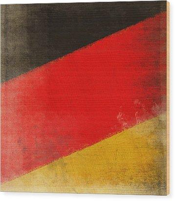 German Flag Wood Print by Setsiri Silapasuwanchai