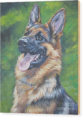 German Shepherd Head Study Wood Print