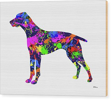 German Shorthaired Pointer Paint Splatter Wood Print