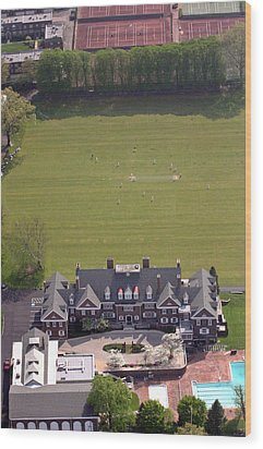 Germantown Cricket Club Courtyard Wood Print by Duncan Pearson