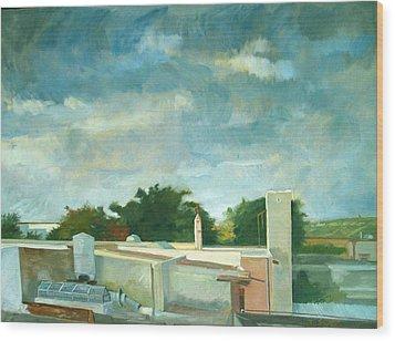 Germantown Rooftops Wood Print by Zois Shuttie