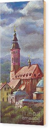 Germany Baden-baden 05 Wood Print by Yuriy  Shevchuk