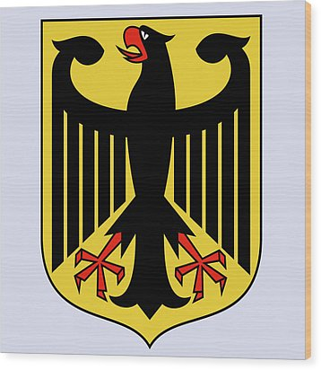Wood Print featuring the drawing Germany Coat Of Arms by Movie Poster Prints