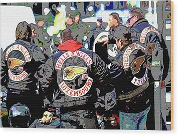 Germany Trial Hell Angels Motorcycle Club Wood Print
