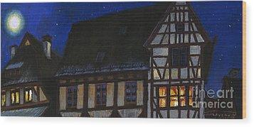 Germany Ulm Fischer Viertel Moonroofs Wood Print by Yuriy  Shevchuk