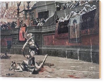Gerome: Gladiators, 1874 Wood Print by Granger