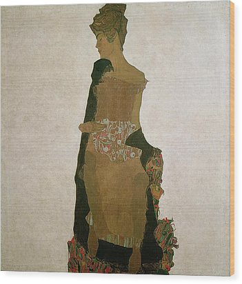 Gerti Schiele Wood Print by Egon Schiele