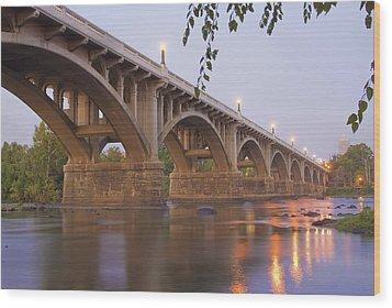 Gervais Bridge Wood Print by Steven Richardson