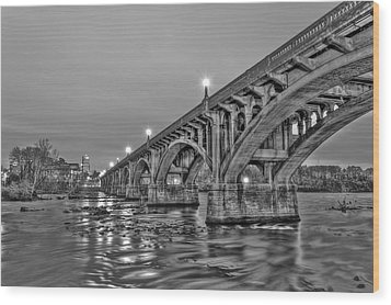 Gervais Street Bridge II Wood Print