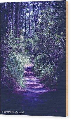 Get That Rabbit Wood Print by Stefanie Silva