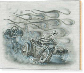 Gettin Away Wood Print by Mike Royal