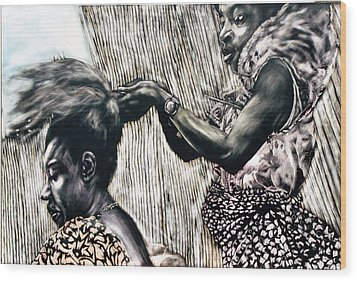 Getting Ready Wood Print by Chester Elmore