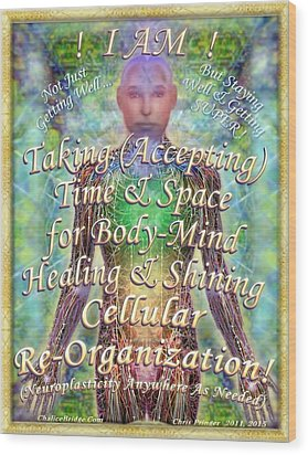 Wood Print featuring the digital art Getting Super Chart For Affirmation Visualization V2 by Christopher Pringer