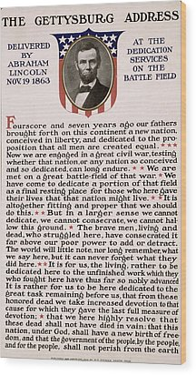 Gettysburg Address Wood Print by International  Images