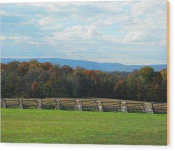 Wood Print featuring the photograph Gettysburg Battlefield And Beyond by Emmy Marie Vickers