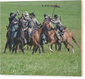 Gettysburg Cavalry Battle 7948c  Wood Print