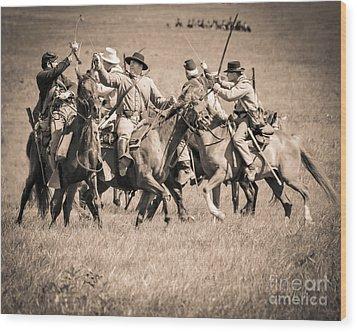 Gettysburg Cavalry Battle 7948s  Wood Print