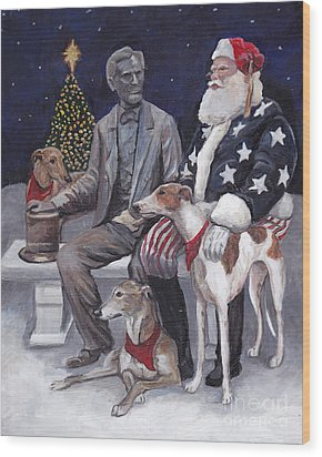 Gettysburg Christmas Wood Print by Charlotte Yealey