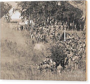 Gettysburg Confederate Infantry 8825s Wood Print