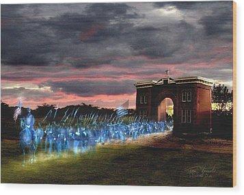 Gettysburg Evergreen Wood Print by Tom Straub