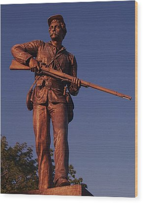 Gettysburg Statue Wood Print by Eric  Schiabor
