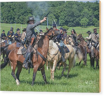 Gettysburg  Union Cavalry 7920c  Wood Print