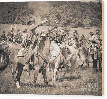 Gettysburg  Union Cavalry 7920s  Wood Print