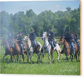 Gettysburg  Union Cavalry Wood Print