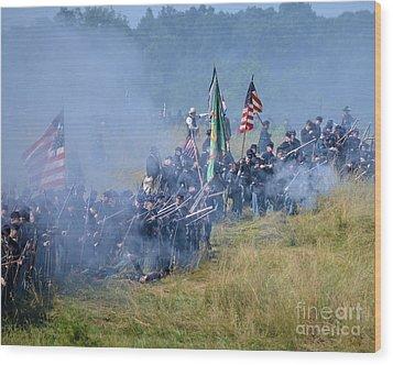 Gettysburg Union Infantry 8947c Wood Print