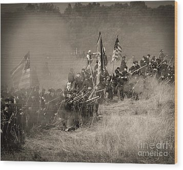 Gettysburg Union Infantry 8947s Wood Print