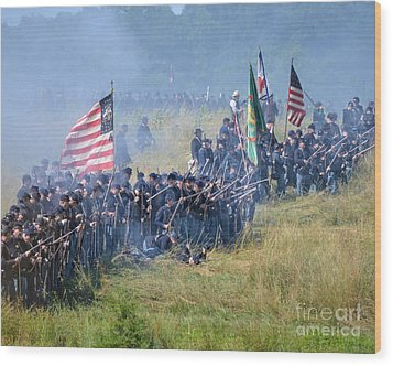 Gettysburg Union Infantry 8948c Wood Print
