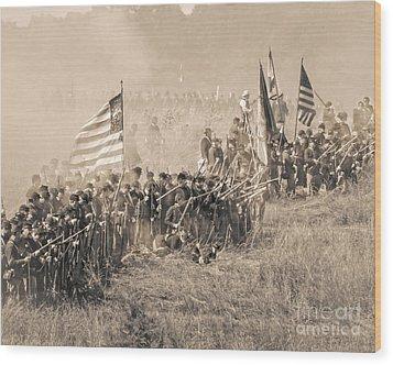 Gettysburg Union Infantry 8948s Wood Print