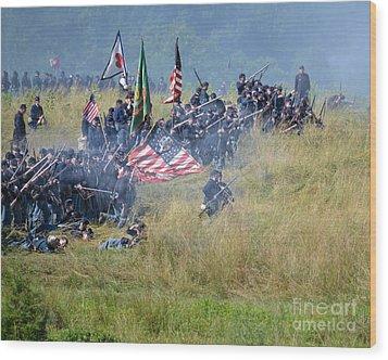 Gettysburg Union Infantry 8963c Wood Print