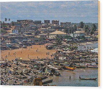 Wood Print featuring the photograph Ghana Africa by David Gleeson