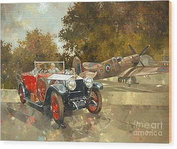 Ghost And Spitfire  Wood Print by Peter Miller