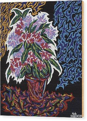 Ghost Flower Wood Print by Robert SORENSEN