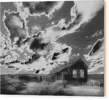 Wood Print featuring the photograph Ghost House by Jim and Emily Bush