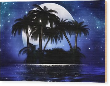 Shadow Island Wood Print