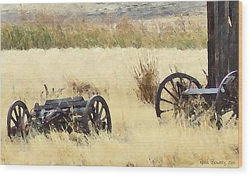 Ghost Of The Oregon Trail Wood Print by Everett Bowers