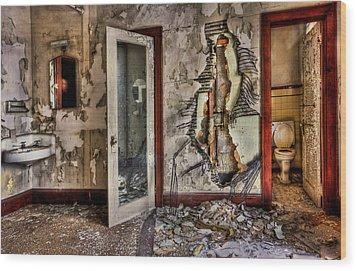 Ghost Of Time Wood Print by Evelina Kremsdorf